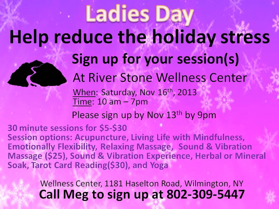 Help reduce the holiday stress Nov 2013