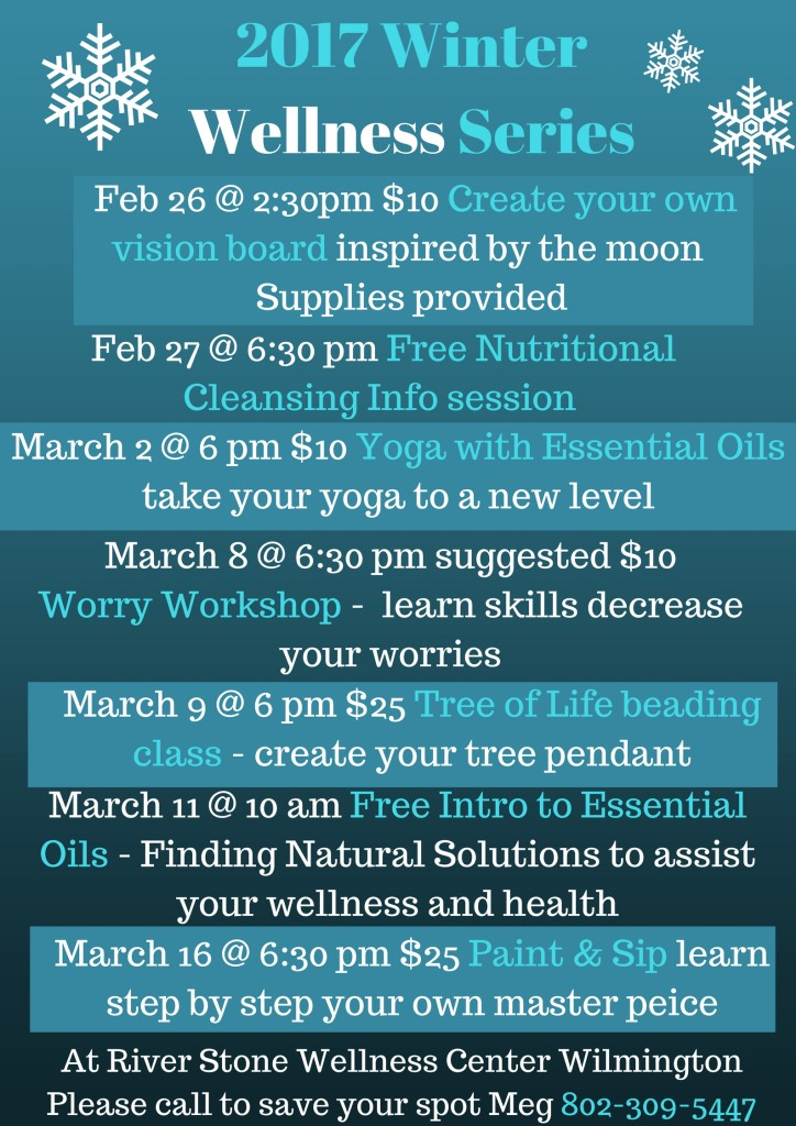 Winter Wellness Series feb march 2017